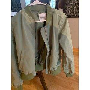 Madewell Green Bomber Jacket Size Small